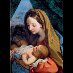 Cartes de vœux - Vierge à l'enfant (Maratta)