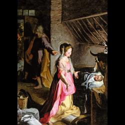 Cartes de vœux - Nativité (Barocci)