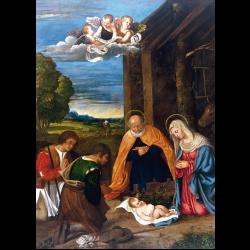 Cartes de voeux - La Nativité avec les bergers