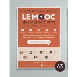 Poster A3 en pack de 4 - MOOC des catéchistes