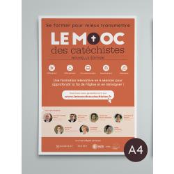 Poster A4 en pack de 4 - MOOC des catéchistes
